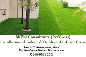 Artificial Grass Installation and Supplier in Nigeria